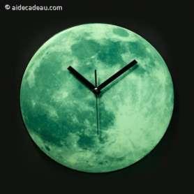 Horloge lune fluorescente
