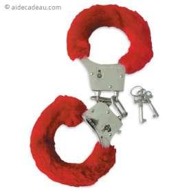 Menottes érotiques avec 2 clés
