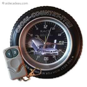 Réveil matin camera espion roue de moto cross