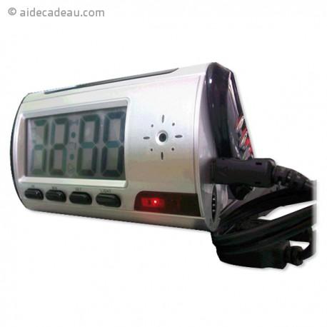 Réveil caméra espion télécommandé digital