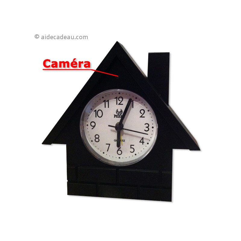 horloge objet de d coration et cam ra de surveillance. Black Bedroom Furniture Sets. Home Design Ideas