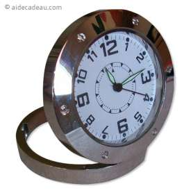 Horloge caméra espion ronde