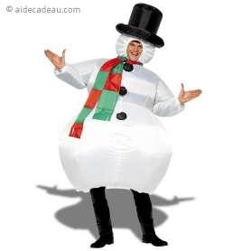 Déguisement gonflable bonhomme de neige