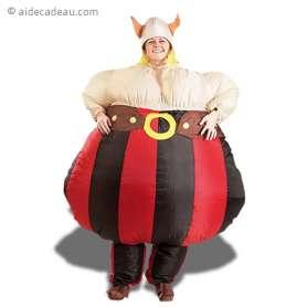 Déguisement gonflable rigolo de viking au gros ventre