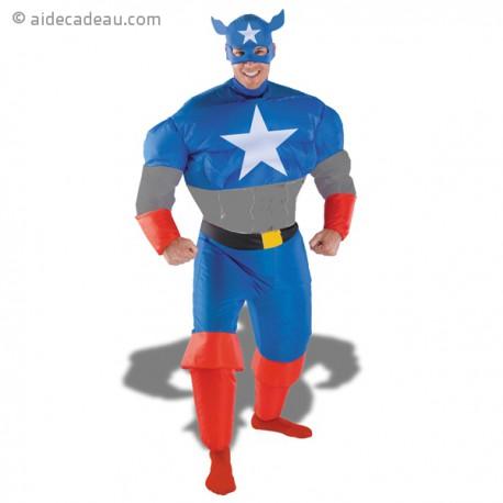 Déguisement gonflable de Captain America