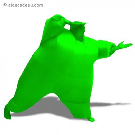 Déguisement gonflable gros bonhomme vert