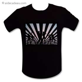 T-shirt equalizer Led danseurs