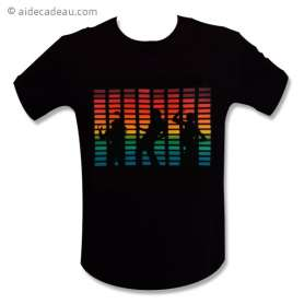 T-shirt equalizer danceur à LED lumineux