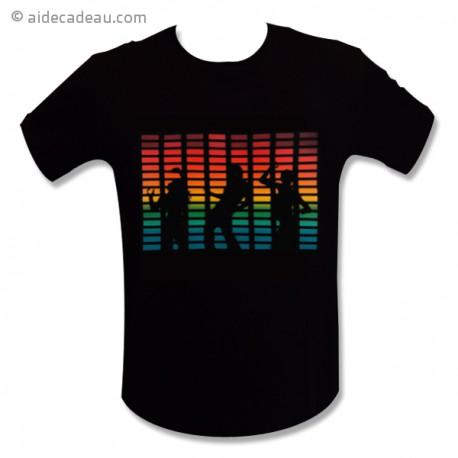 T-shirt equalizer danceur à LED lumineux