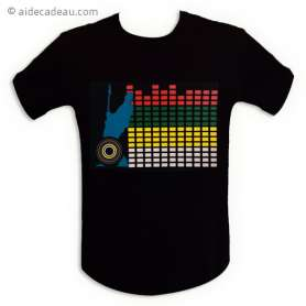 T-shirt equalizer interactif mur de son LED