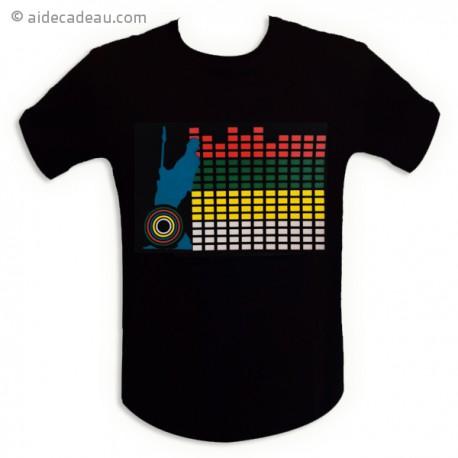 T-shirt equalizer interactif mur de son LED
