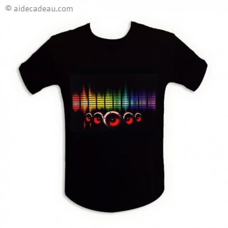 T-shirt à LED lumineux pour une ambiance discothèque
