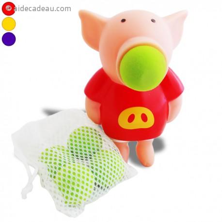 Jeu tire-balle insolite en forme de petit cochon amusant