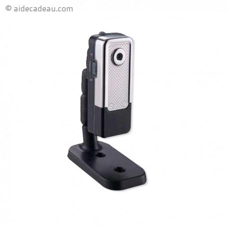Mini caméra webcam métal argent