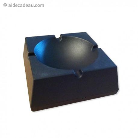 Cendrier carré noir équipé d'un micro
