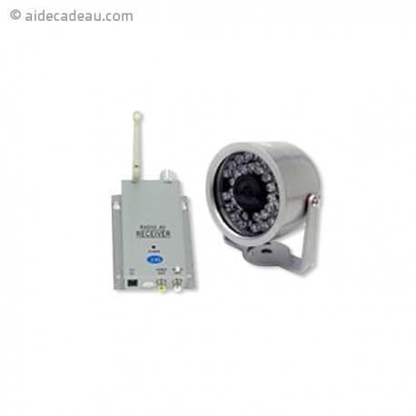 Kit complet  caméra surveillance sans fil avec récepteur
