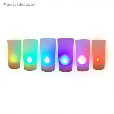 Bougies LED multicolore