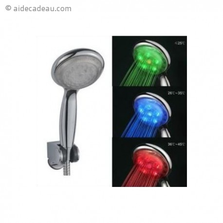 pommeau de douche led eau lumineuse et color e. Black Bedroom Furniture Sets. Home Design Ideas