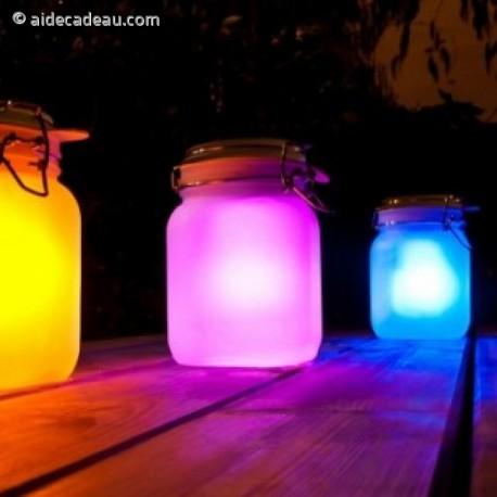 Jar solaire lumière LED multicolore