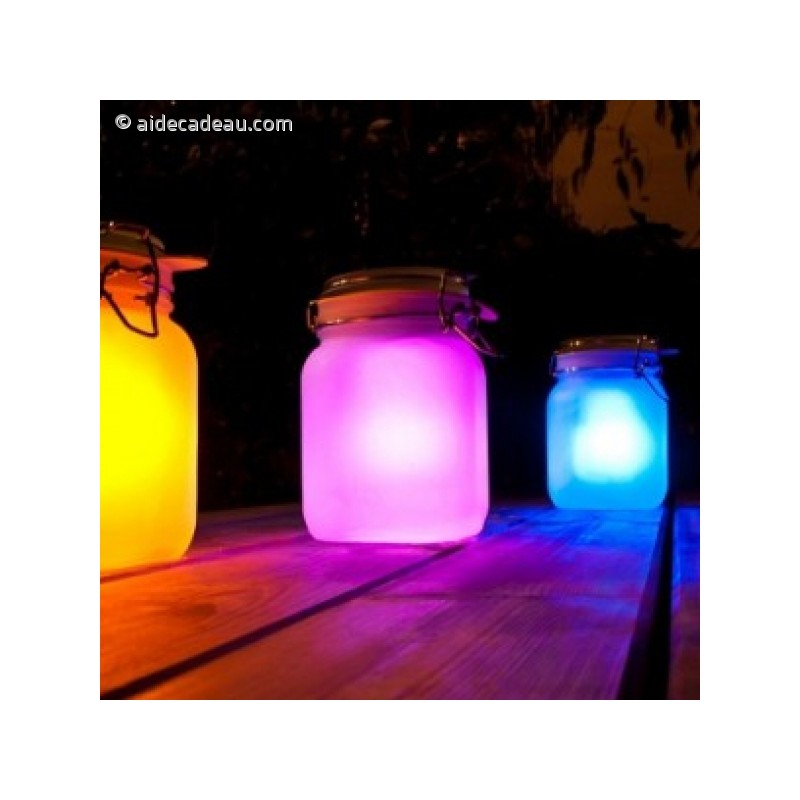 jar solaire lumi re led multicolore. Black Bedroom Furniture Sets. Home Design Ideas