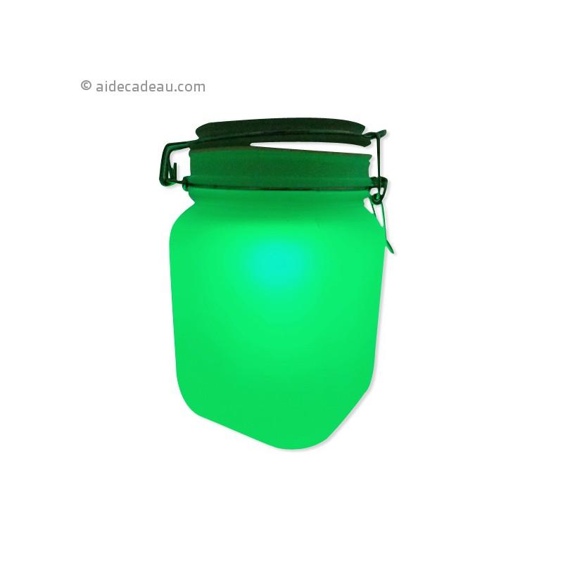 Jar solaire lumi re led multicolore for Lumiere solaire interieur