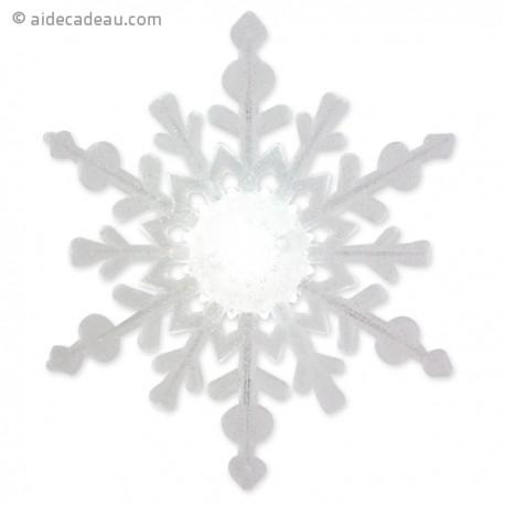 Flocon de neige lumineux blanc