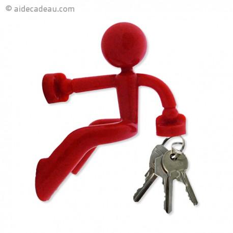 Petit bonhomme range-clefs aimanté