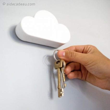 Accroche-clés en forme de nuage blanc