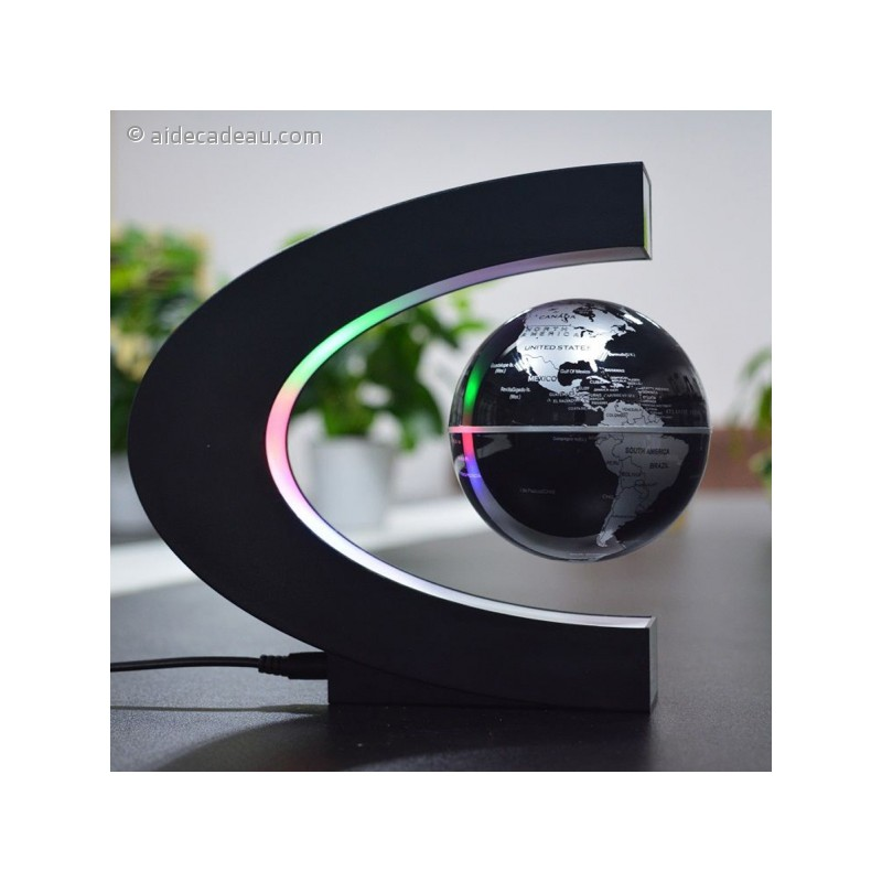 globe terrestre l vitation lumineux led flottant magnetique. Black Bedroom Furniture Sets. Home Design Ideas