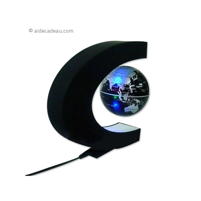 globe terrestre l vitation lumineux led flottant. Black Bedroom Furniture Sets. Home Design Ideas