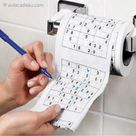 Rouleau de papier toilettes  Sudoku PQ WC