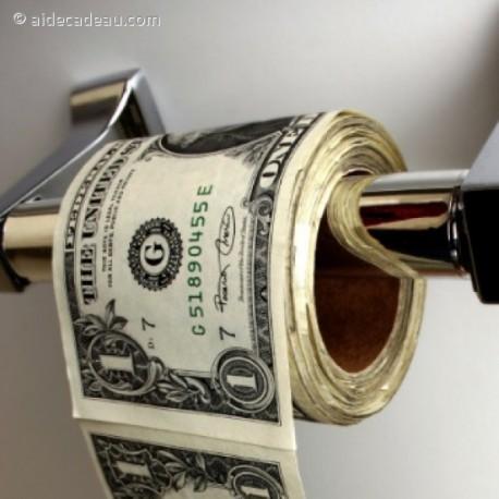 Papier toilettes dollars