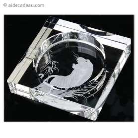Cendrier tigre en verre