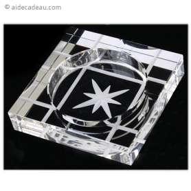 Cendrier rectangulaire motif étoile