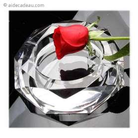 Cendrier en verre fond miroir