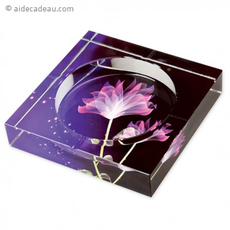 Cendrier en verre fleur de lotus