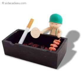 Cendrier petit soldat barbecue