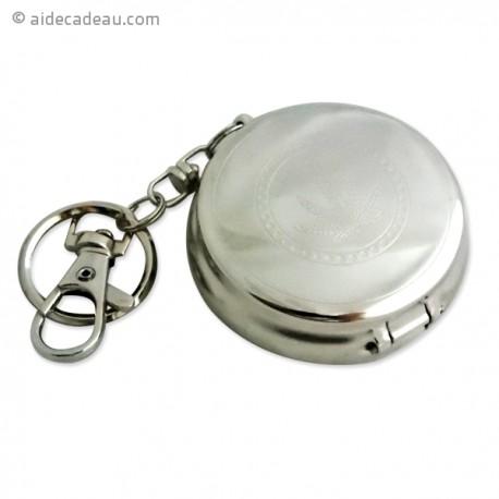 Porte-clés cendrier de poche cannabis cercle
