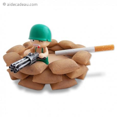 Cendrier soldat dans bunker