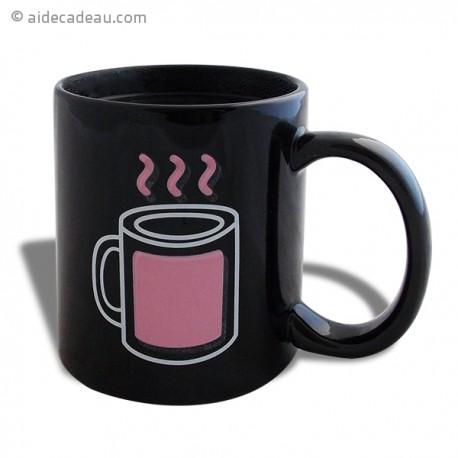 Tasse thermo-changeante boisson fumante mug thermo-réactifs