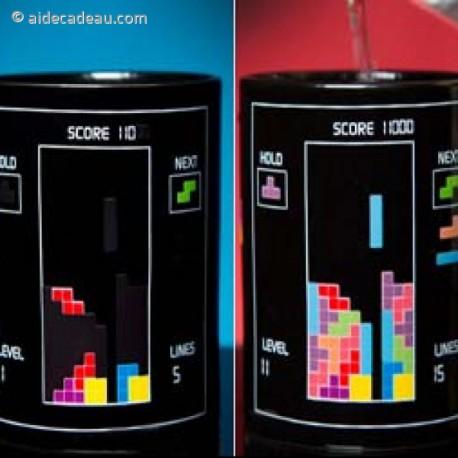Mug thermo-réactifs Tetris tasse thermo-changeante