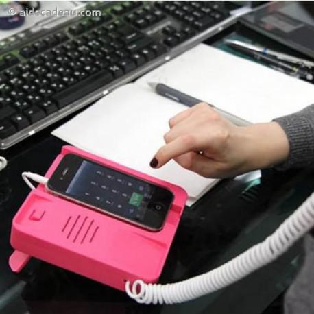Base téléphone fixe pour iphone