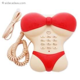 Téléphone fixe femme bikini