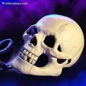 Téléphone fixe crâne