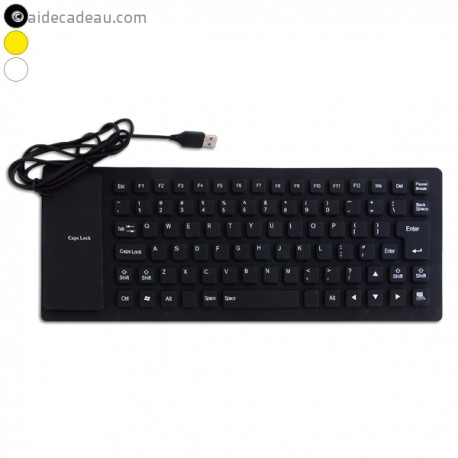 Clavier USB flexible QWERTY