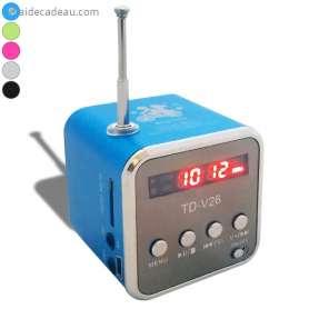 Mini enceinte écran LCD, carte SD, radio, jack, smartphone