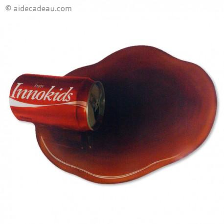 Tapis de souris canette de coca renversée