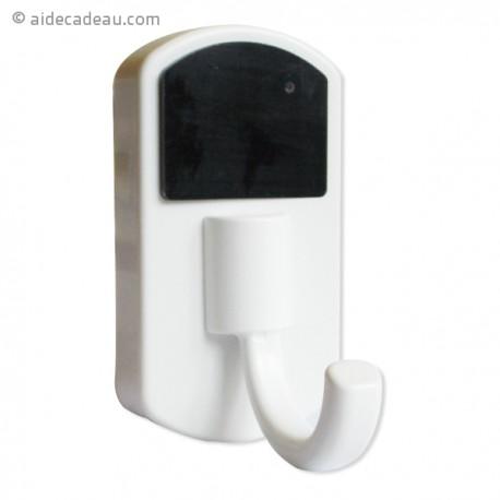 Porte-manteau caméra espion télécomandée blanc