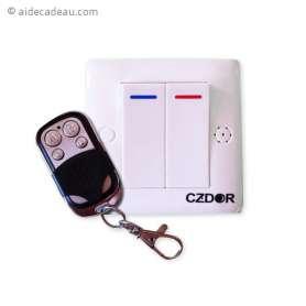 Interrupteur caméra espion télécommandé