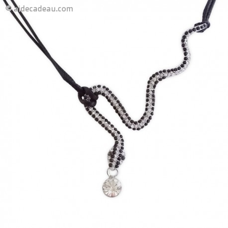Collier strass en serpent
